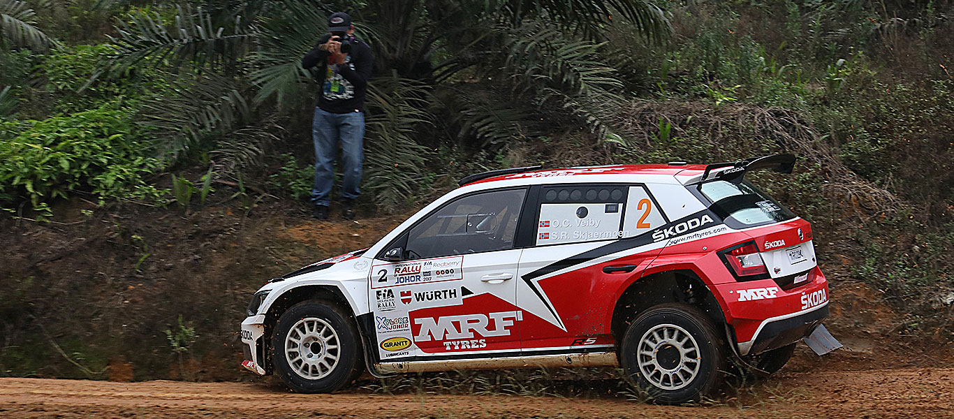 FOTO: Tým ŠKODA MRF na International Rally of Johor 2017