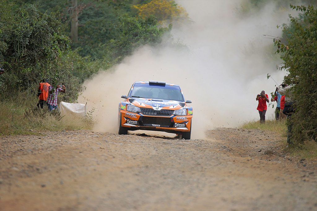 Manvir Singh Baryan / Drew Sturrock, ŠKODA FABIA R5, Multiple Racing Team. Rally of Tanzania 2017 (Photo: Rai Productions)