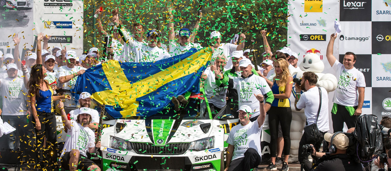 WRC Germany: Tidemand / Andersson and ŠKODA secure WRC2 titles