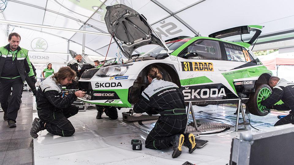ŠKODA FABIA R5, ŠKODA Motorsport. Rallye Deutschland 2017