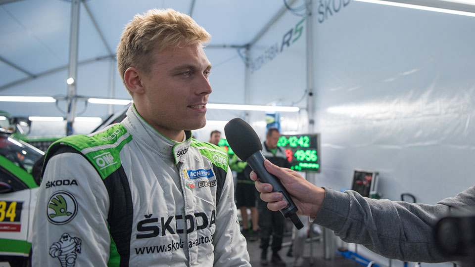 Pontus Tidemand and Jan Kopecký about the second leg at the 2017 Rallye Deutschland