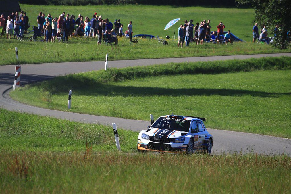 Sandro Wallenwein / Markus Poschner, ŠKODA FABIA R5, race:pro motorsport. Thüringen Rallye 2017