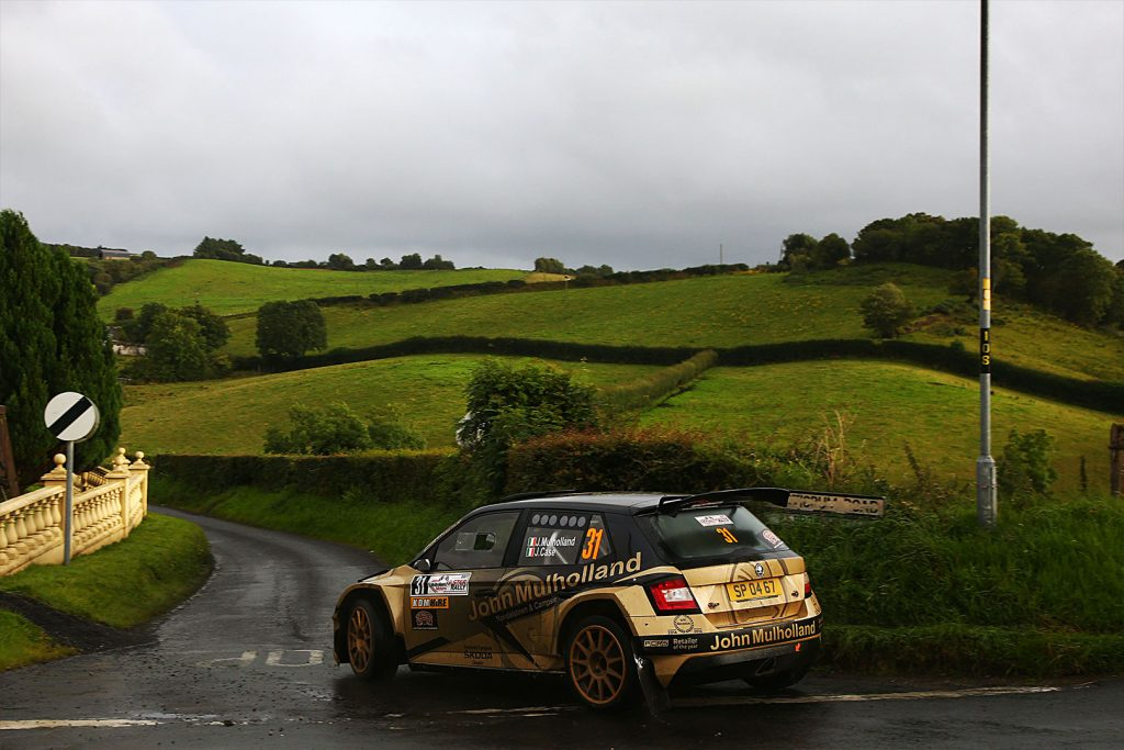 John Mulholland / Jeff Case, ŠKODA FABIA R5. Ulster Rally 2017