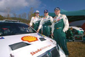 Jan Kopecký, Toni Gardemeister, Armin Schwarz, ŠKODA FABIA WRC, ŠKODA Motorsport. Rally Catalunya - Costa Brava 2004