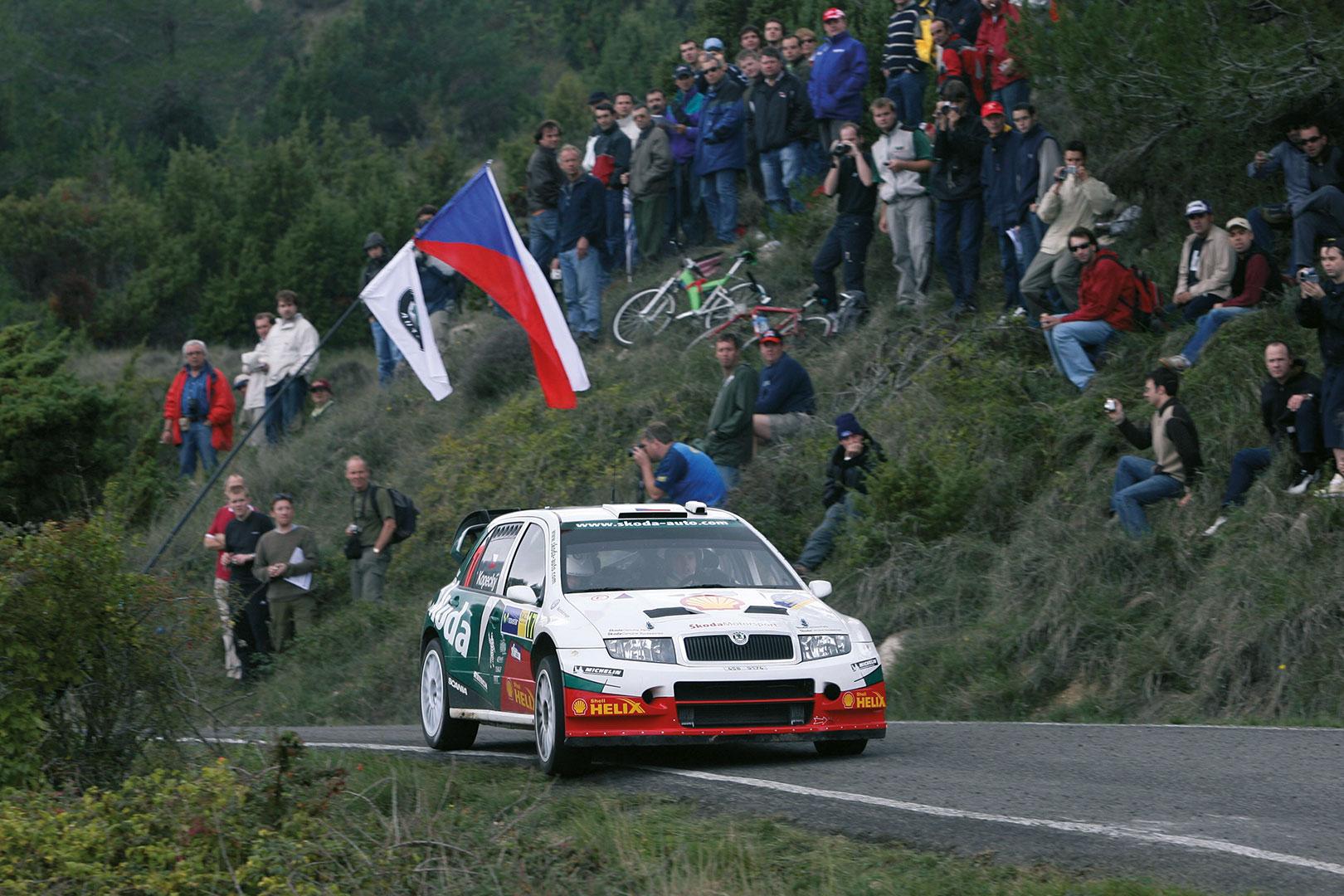 Jan Kopecký / Filip Schovánek, ŠKODA FABIA WRC, ŠKODA Motorsport. RallyRACC Catalunya - Costa Daurada 2005