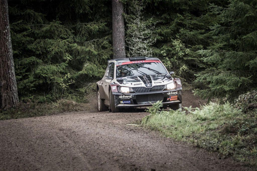 Lars Stugemo / Kalle Lexe, ŠKODA FABIA R5, Sunnyside Experience. East Sweden Rally 2017 (Photo: Fredrik Värnebjörk)