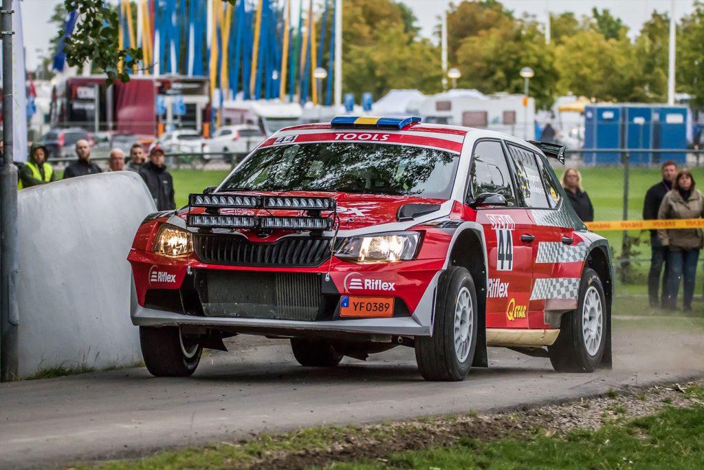 Martin Hagman / Göran Schönqvist, ŠKODA FABIA R5, Riflex Sport. East Sweden Rally 2017 (Photo: Fredrik Värnebjörk)