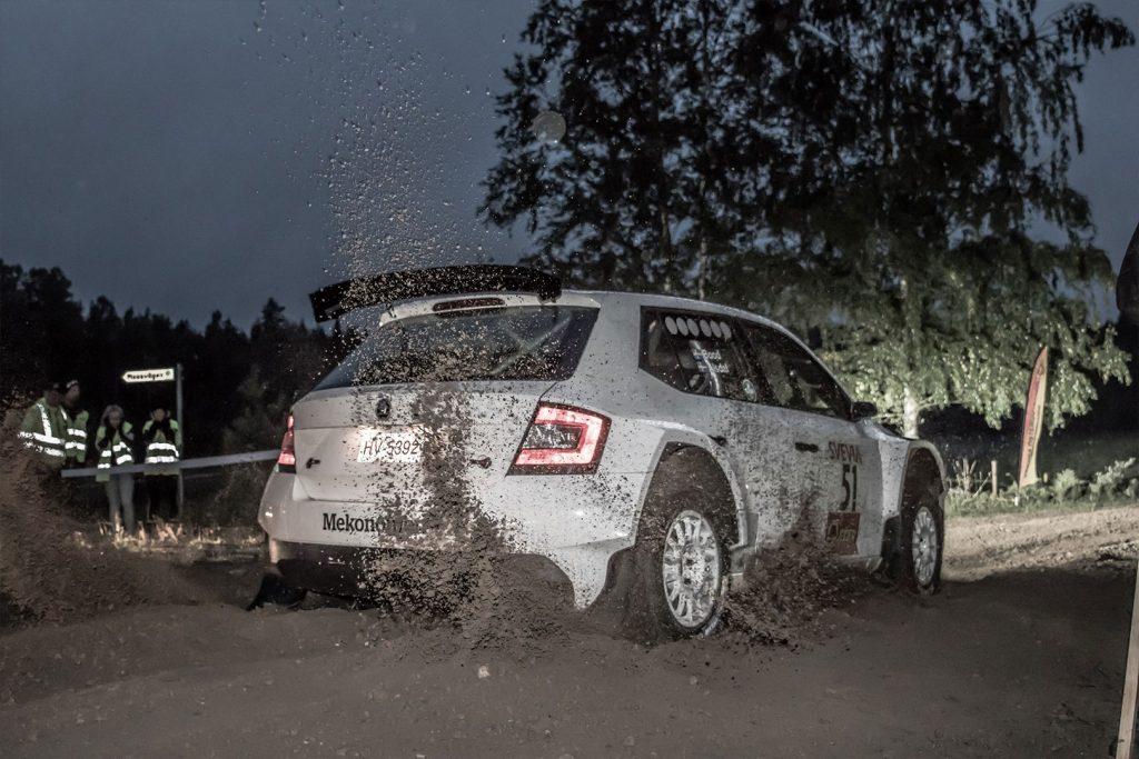 Fredrik Alsdal / Ida Bood, ŠKODA FABIA R5. East Sweden Rally 2017 (Foto: Fredrik Värnebjörk)