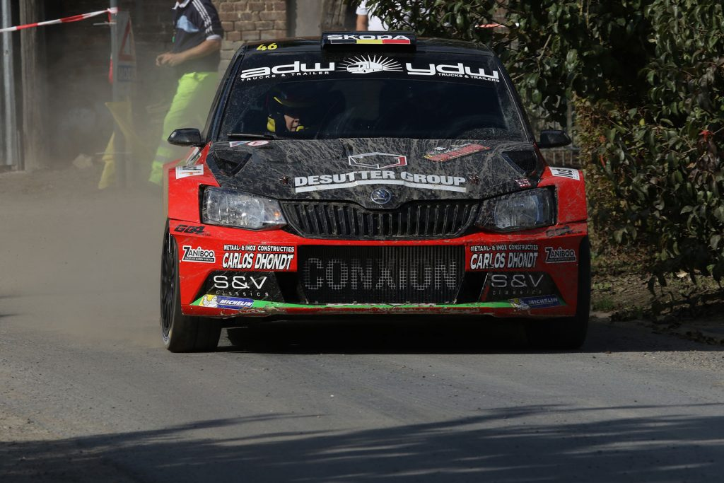 Vincent Verschueren / Veronique Hostens, ŠKODA FABIA R5, Duindistel. Omloop van Vlaanderen 2017 (Photo: BRC Media)