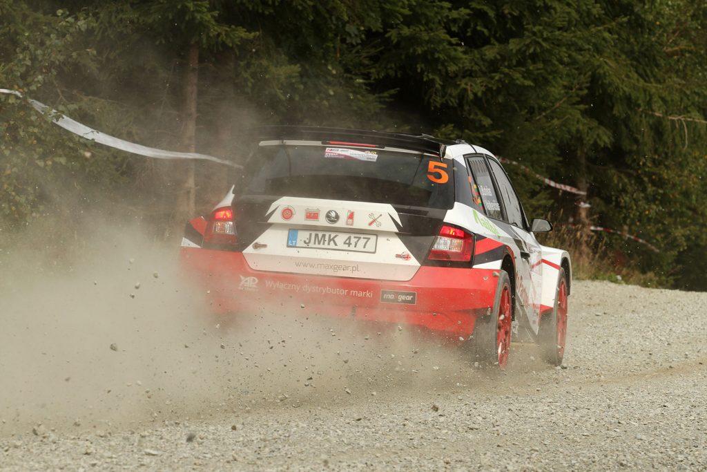 Dominykas Butvilas / Renatas Vaitkevičius, ŠKODA FABIA R5, Auto Partner Rally Team. Rajd Dolnośląski 2017