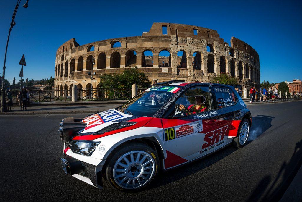 Nikolay Gryazin / Yaroslav Fedorov, ŠKODA FABIA R5, Sports Racing Technologies. Rally di Roma Capitale 2017