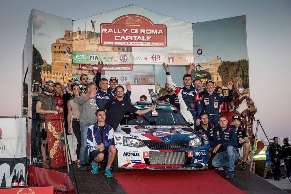 Jan Černý / Petr Černohorský jun., ŠKODA FABIA R5, ACCR Czech Team. Rally di Roma Capitale 2017