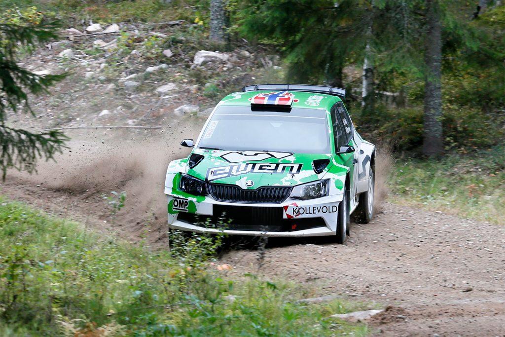 Ole Christian Veiby / Stig Rune Skjærmoen, ŠKODA FABIA R5. Rally Hedemarken 2017 (Foto: Christian Gustavsson)