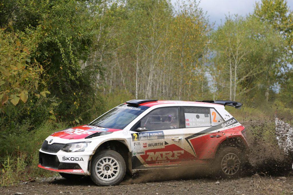 Ole Christian Veiby / Stig Rune Skjærmoen, ŠKODA FABIA R5, ŠKODA Team MRF. Rally Hokkaido 2017  (Photo: Racetorque)