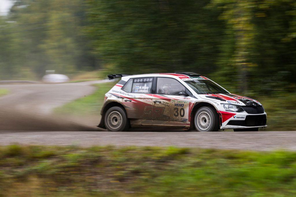 Marko Mänty / Joni Mäkelä, ŠKODA FABIA R5, Printsport Oy. SM Oili Jalonen Ralli 2017