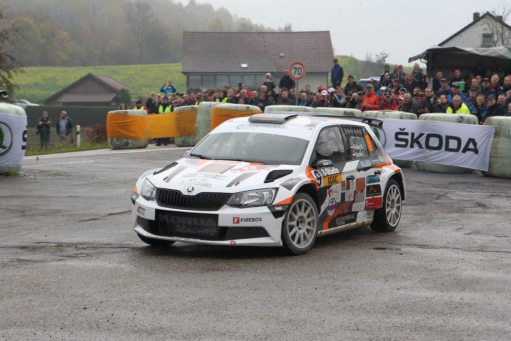 Krisztián Hideg / István Kerék, ŠKODA FABIA R5, AK Delta Sport. 3-Städte-Rallye 2017