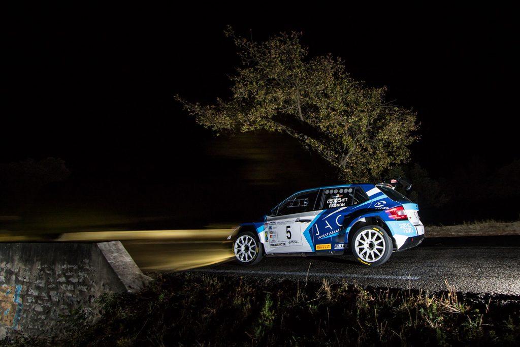 Julien-Alexandre Courchet / Romain Pagnon, ŠKODA FABIA R5. Finale de la Coupe de France des Rallyes Marseille 2017