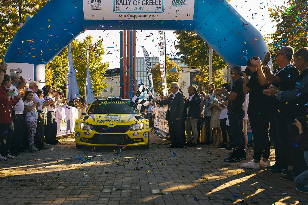 Socratis Tsolakidis / Harris Dimos, ŠKODA FABIA R5. Historic Rally of Greece – GRC 2017 (Larissa Rally)