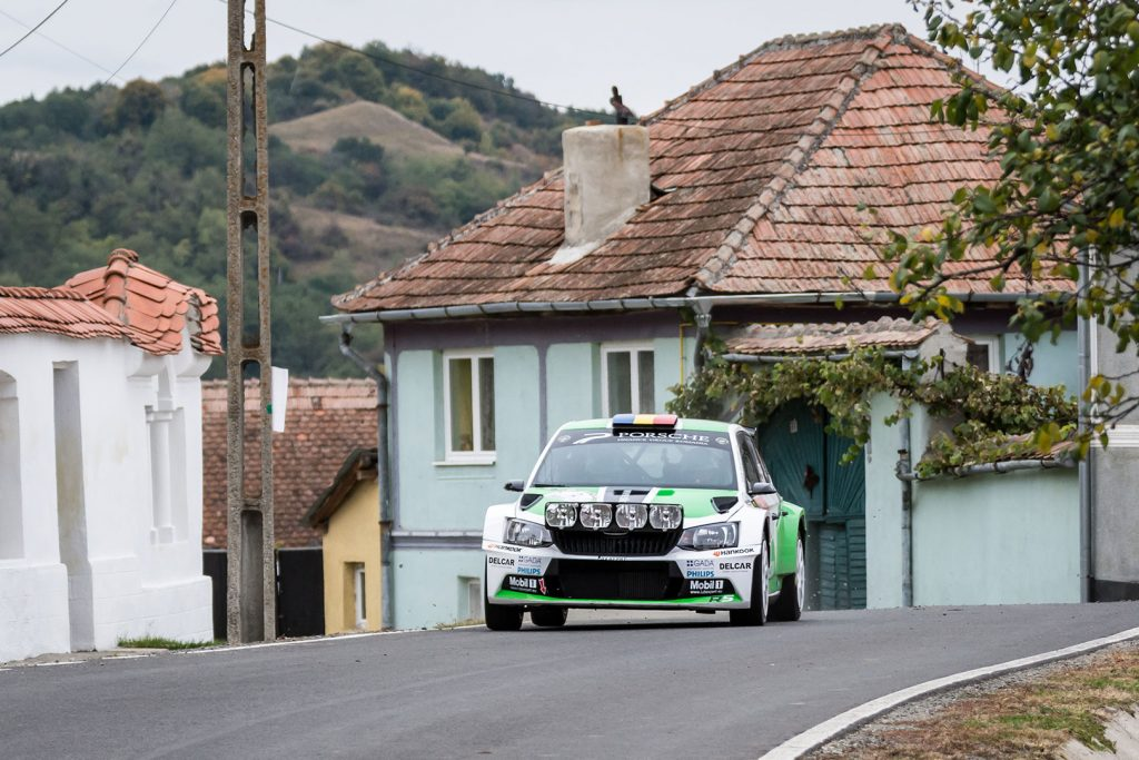 Dan Girtofan / Tudor Marza, ŠKODA FABIA R5. Raliul Sibiului 2017 (Foto: Adrian Torjoc & Bogdan Barabas)