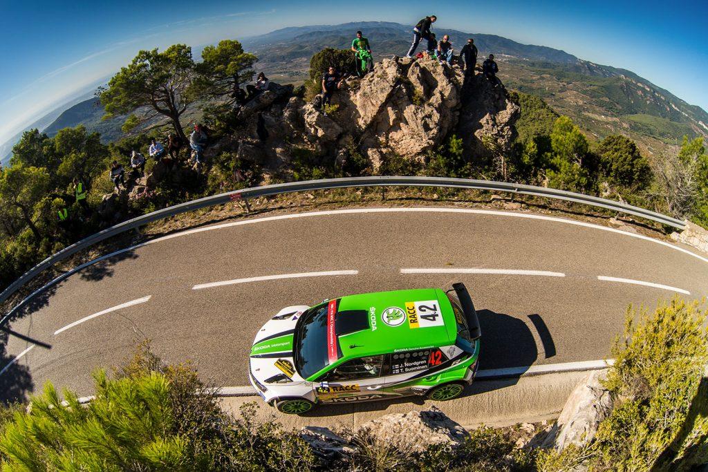 Juuso Nordgren / Tapio Suominen, ŠKODA FABIA R5, ŠKODA Motorsport. RallyRACC Catalunya – Costa Daurada 2017
