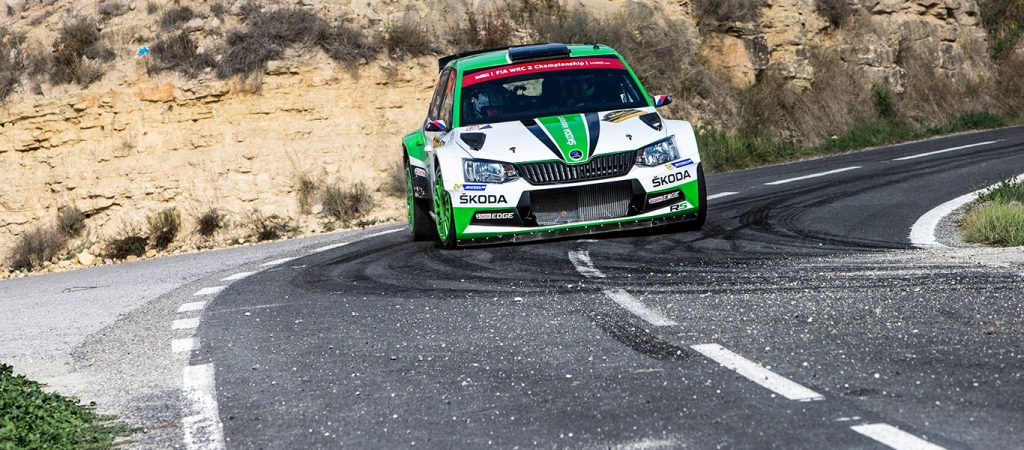 wrc-spain-skoda-teams-trouble-free-run-kopecky-second-nordgren-fourth-wrc2