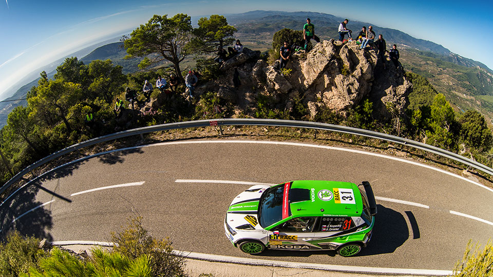 Jan Kopecký / Pavel Dresler, Juuso Nordgren / Tapio Suominen, ŠKODA FABIA R5, ŠKODA Motorsport. RallyRACC Catalunya - Costa Daurada 2017
