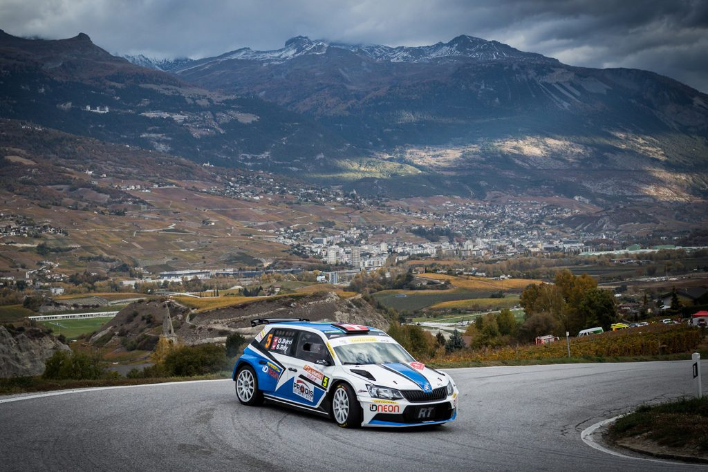 Olivier Burri / Stéphane Rey, ŠKODA FABIA R5, D-Max Swiss. Rallye International du Valais 2017