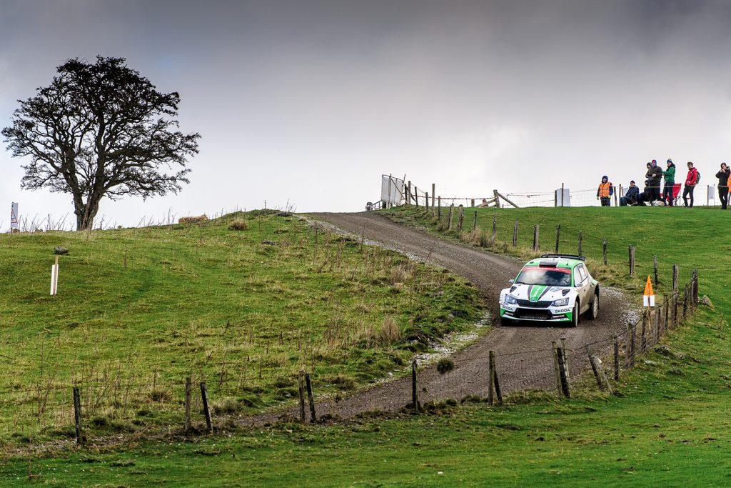 Juuso Nordgren / Tapio Suominen, ŠKODA FABIA R5, ŠKODA Motorsport. Wales Rally GB 2017