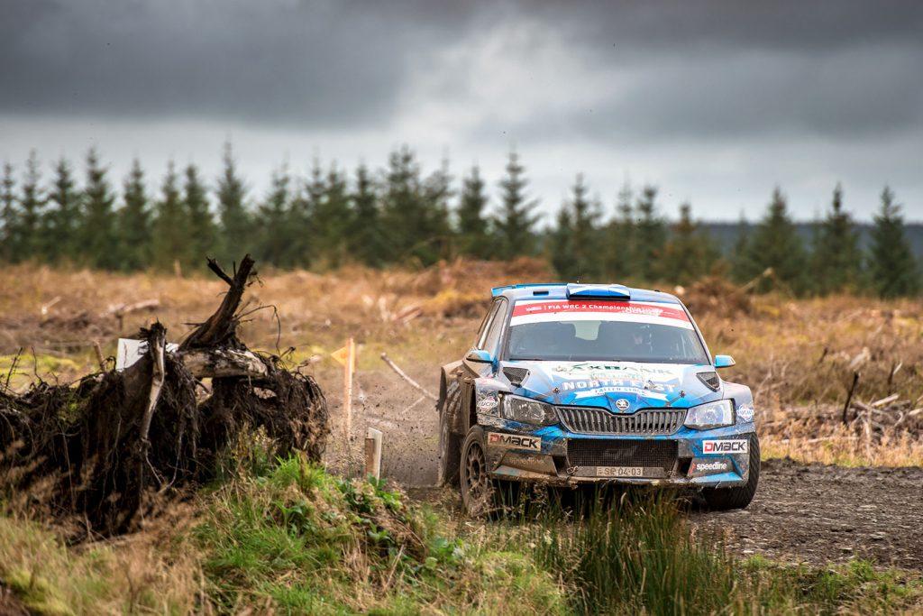 David Bogie / Kevin Rae, ŠKODA FABIA R5, Wojciech Chuchała. Wales Rally GB 2017