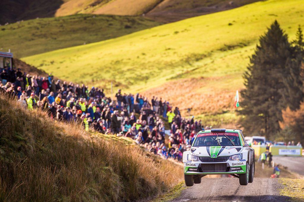 Ole Christian Veiby / Stig Rune Skjærmoen, ŠKODA FABIA R5, ŠKODA Motorsport. Wales Rally GB 2017