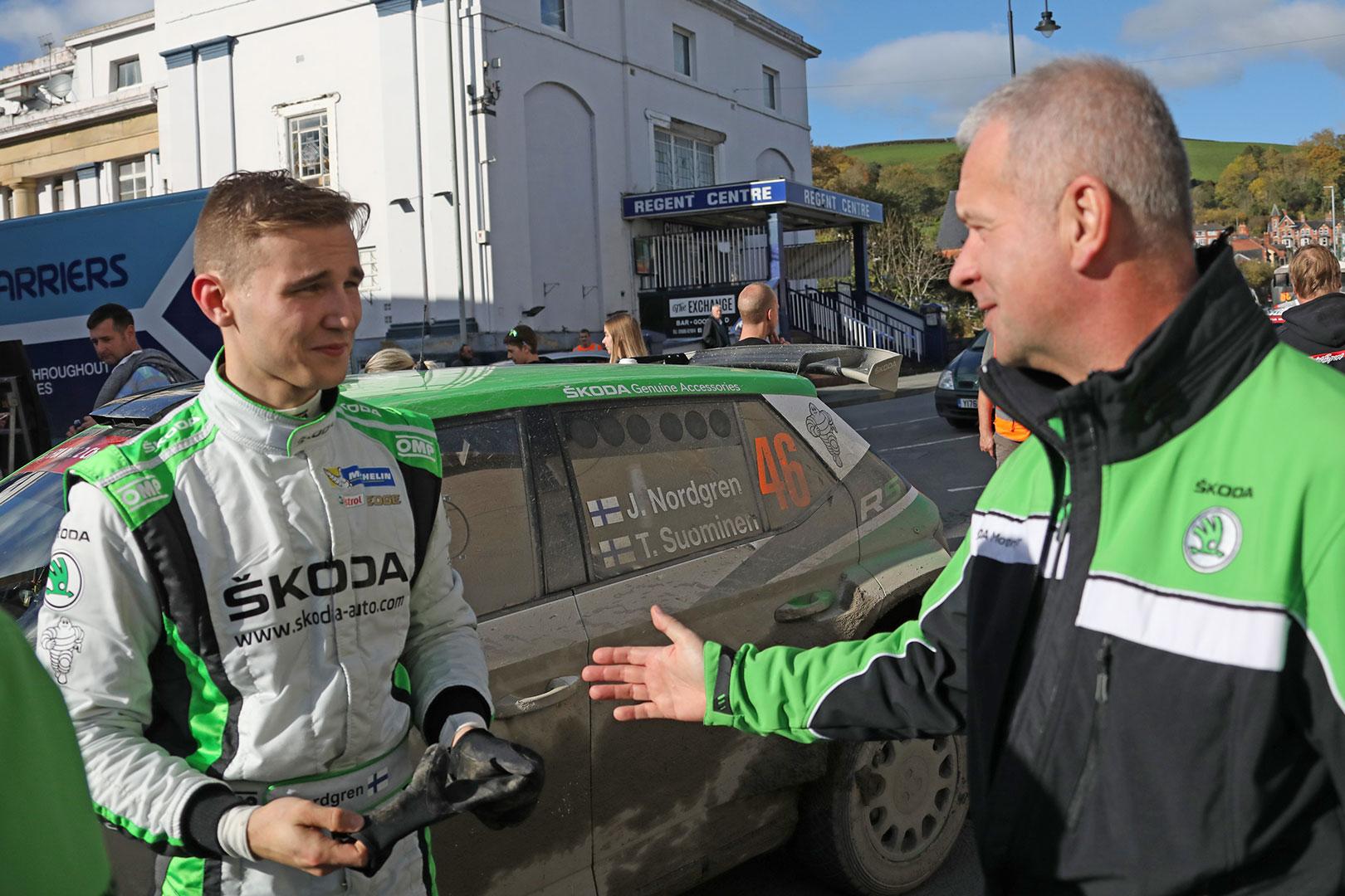 Juuso Nordgren, Michal Hrabánek, ŠKODA FABIA R5, ŠKODA Motorsport. Wales Rally GB 2017