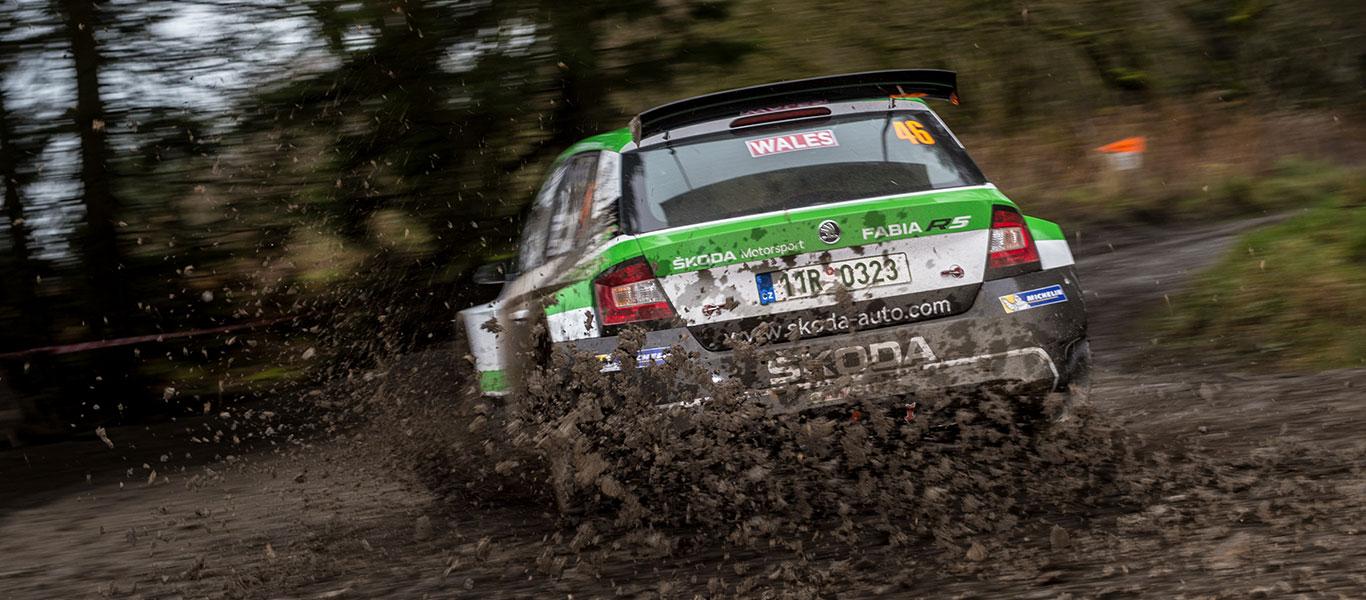 FOTO: ŠKODA Motorsport na Britské rally 2017