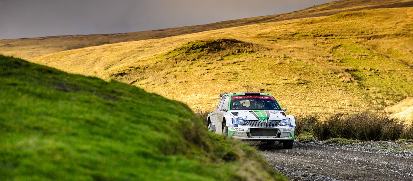 WRC Wales: WRC2 Champion Pontus Tidemand leading in Wales