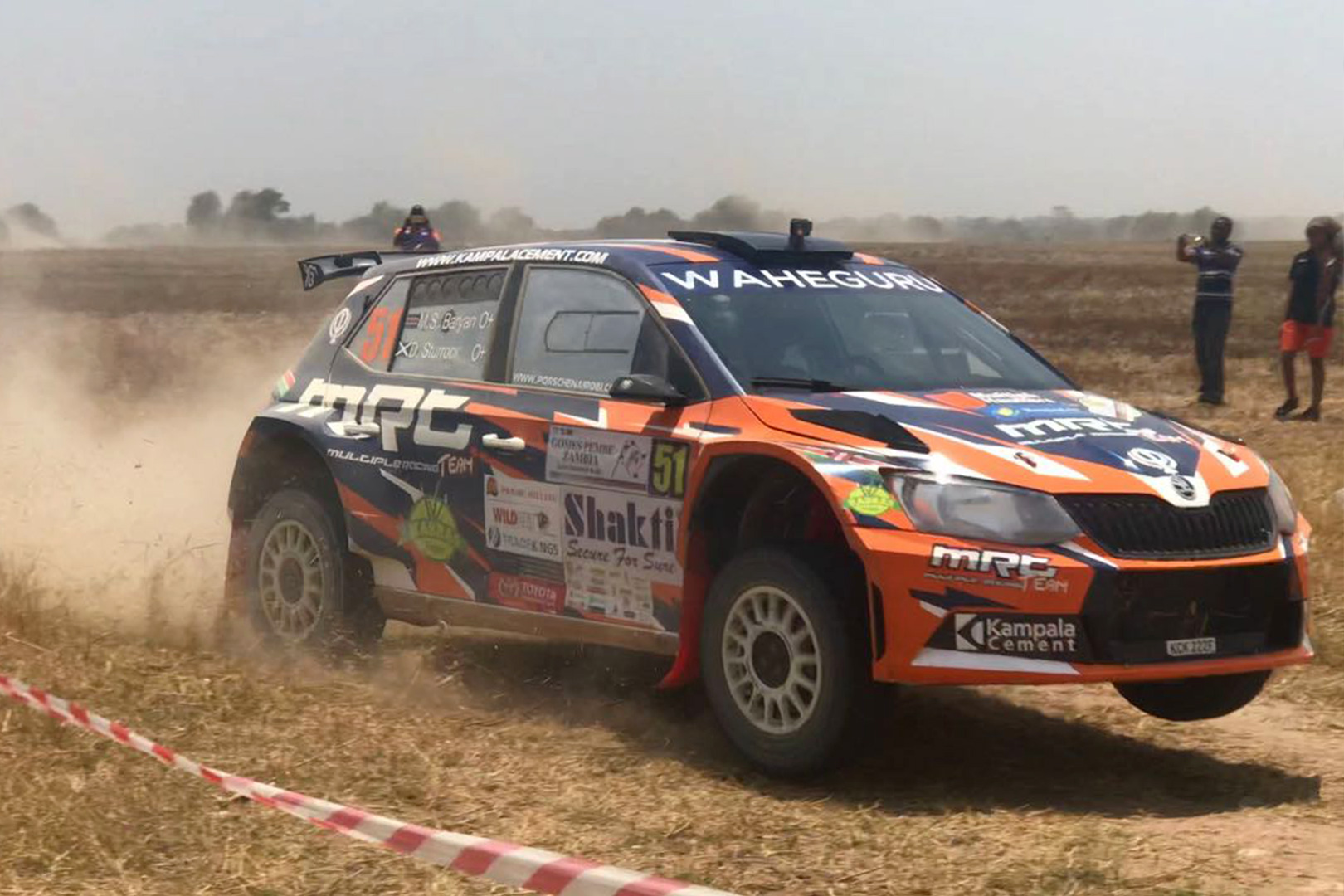 Manvir Singh Baryan / Drew Sturrock, ŠKODA FABIA R5, Multiple Racing Team. Zambia International Rally 2017