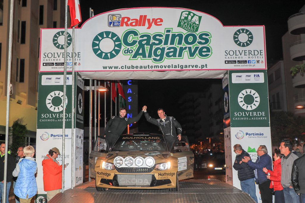 John Mulholland / Jeff Case, ŠKODA FABIA R5, Philip Case Rally Sport. Rallye Casinos do Algarve