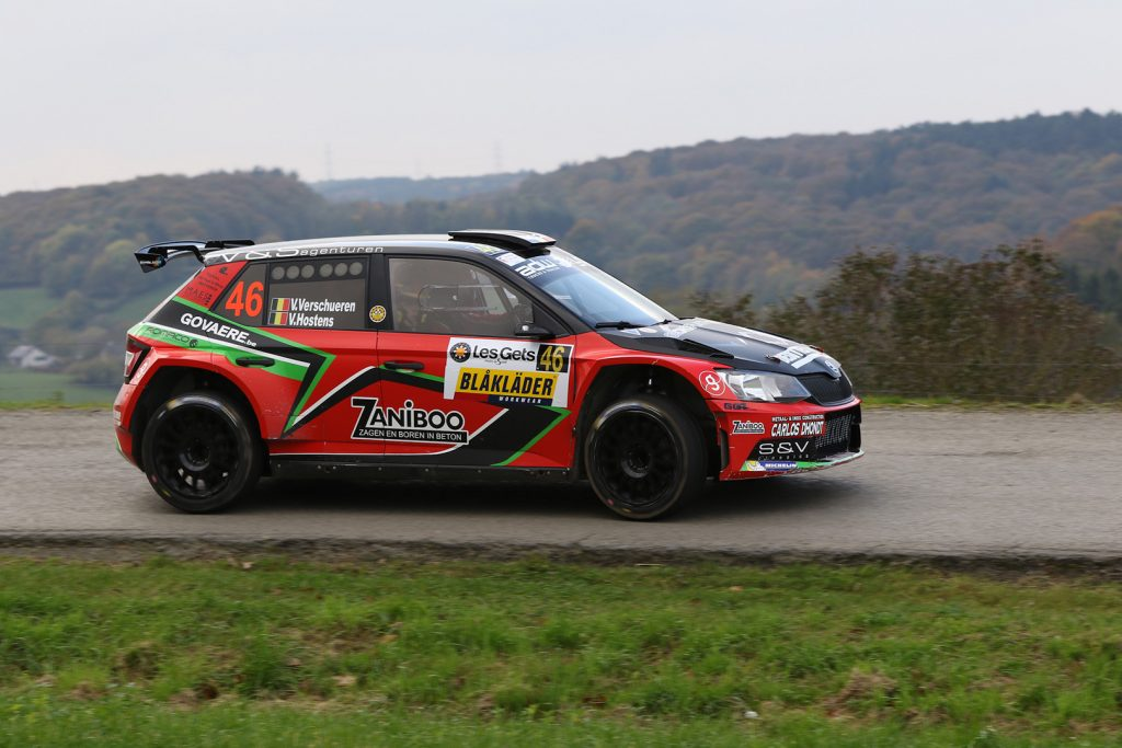 Vincent Verschueren / Veronique Hostens, ŠKODA FABIA R5, Duindistel. Rallye du Condroz-Huy 2017 (Photo: BRC Media)