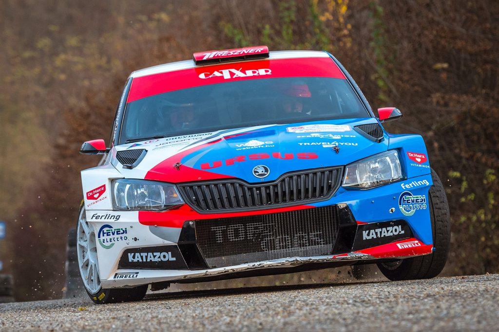 László Ranga jun. / Imre Tóth, ŠKODA FABIA R5, Topp Autó 2010 Kft. Eger Rallye 2017