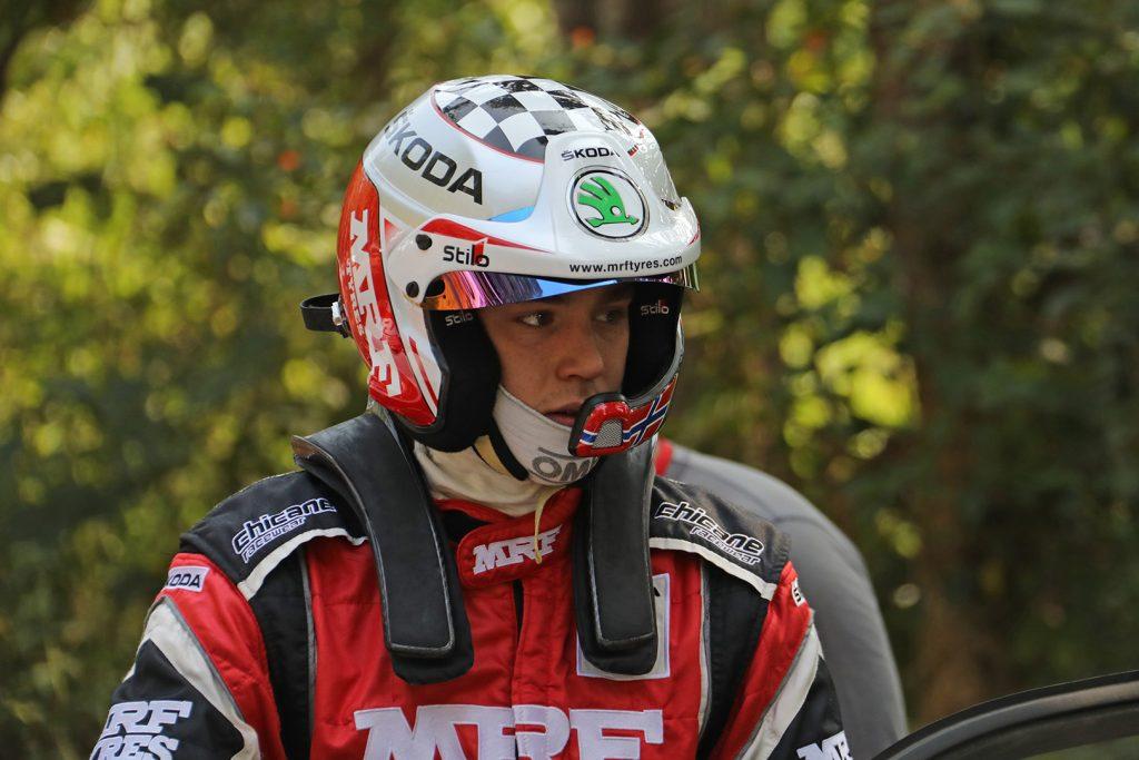 Ole Christian Veiby, ŠKODA FABIA R5, ŠKODA Team MRF. India Rally 2017