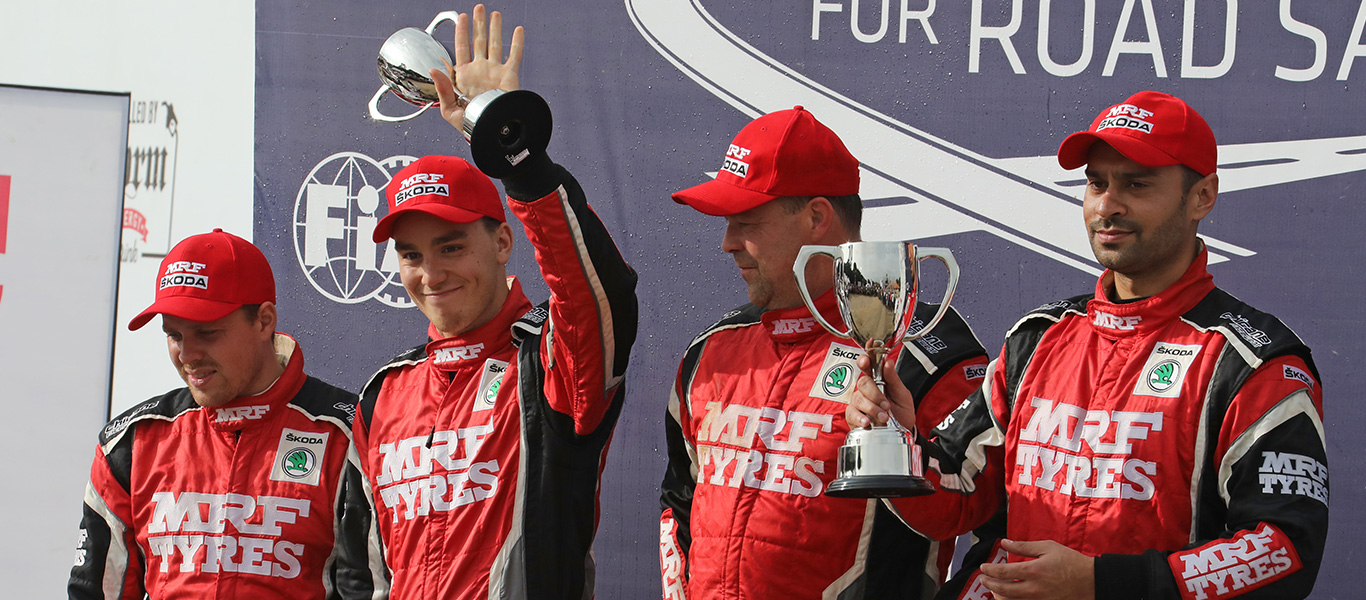 APRC India: Gill wins and defends title double victory for ŠKODA MRF Team with Veiby second