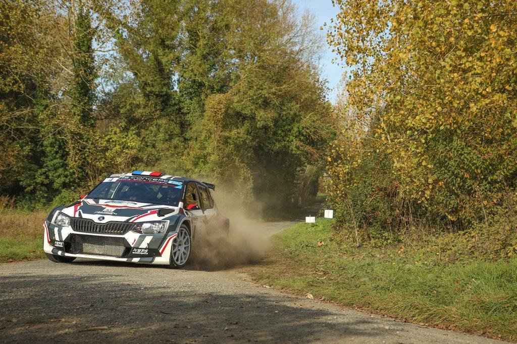 Nicolas Hernandez / Kévin Bronner, ŠKODA FABIA R5. Rallye National d'Automne La Rochelle 2017