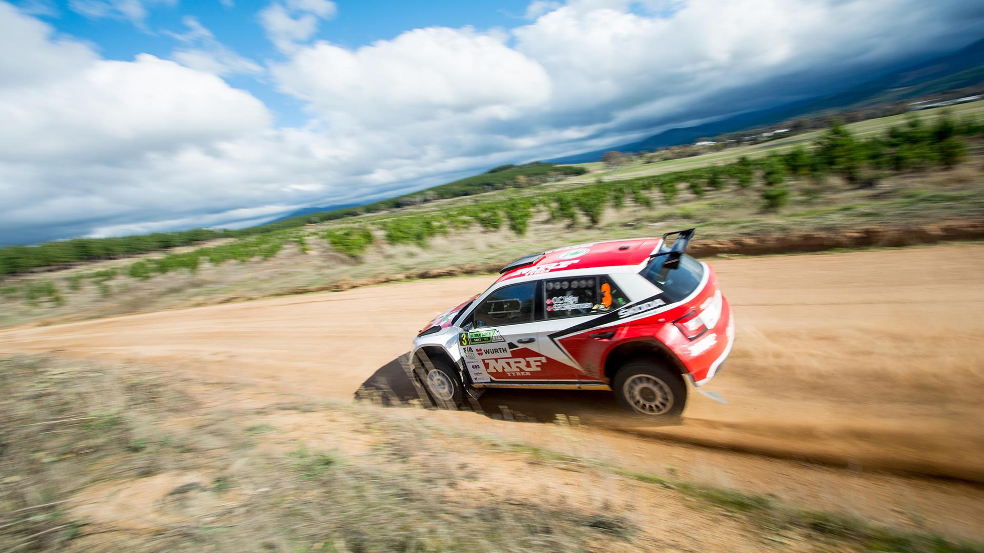 Ole Christian Veiby / Stig Skjarmoen, ŠKODA FABIA R5, ŠKODA Team MRF. Rally of Canberra 2017 (Foto: RacerViews)