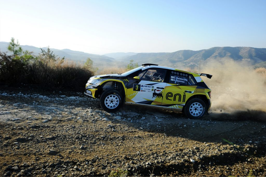 Simos Galatariotis / Antonis Ioannou, ŠKODA FABIA R5, Petrolina – Eni Racing Team. Tiger Rally 2017