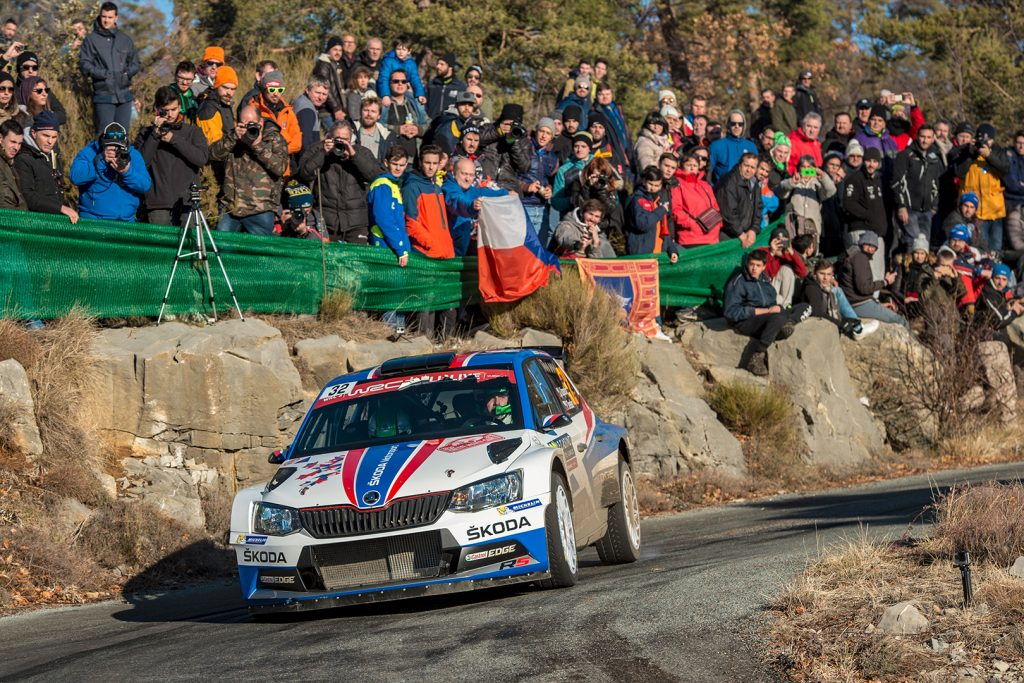 Jan Kopecký / Pavel Dresler, ŠKODA FABIA R5, ŠKODA Motorsport. Rallye Monte Carlo 2018