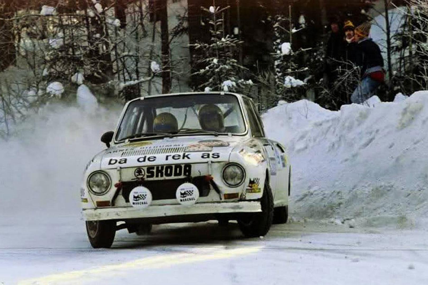 John Haugland / Arild Antonsen, ŠKODA 130 RS. Rally Sweden 1978