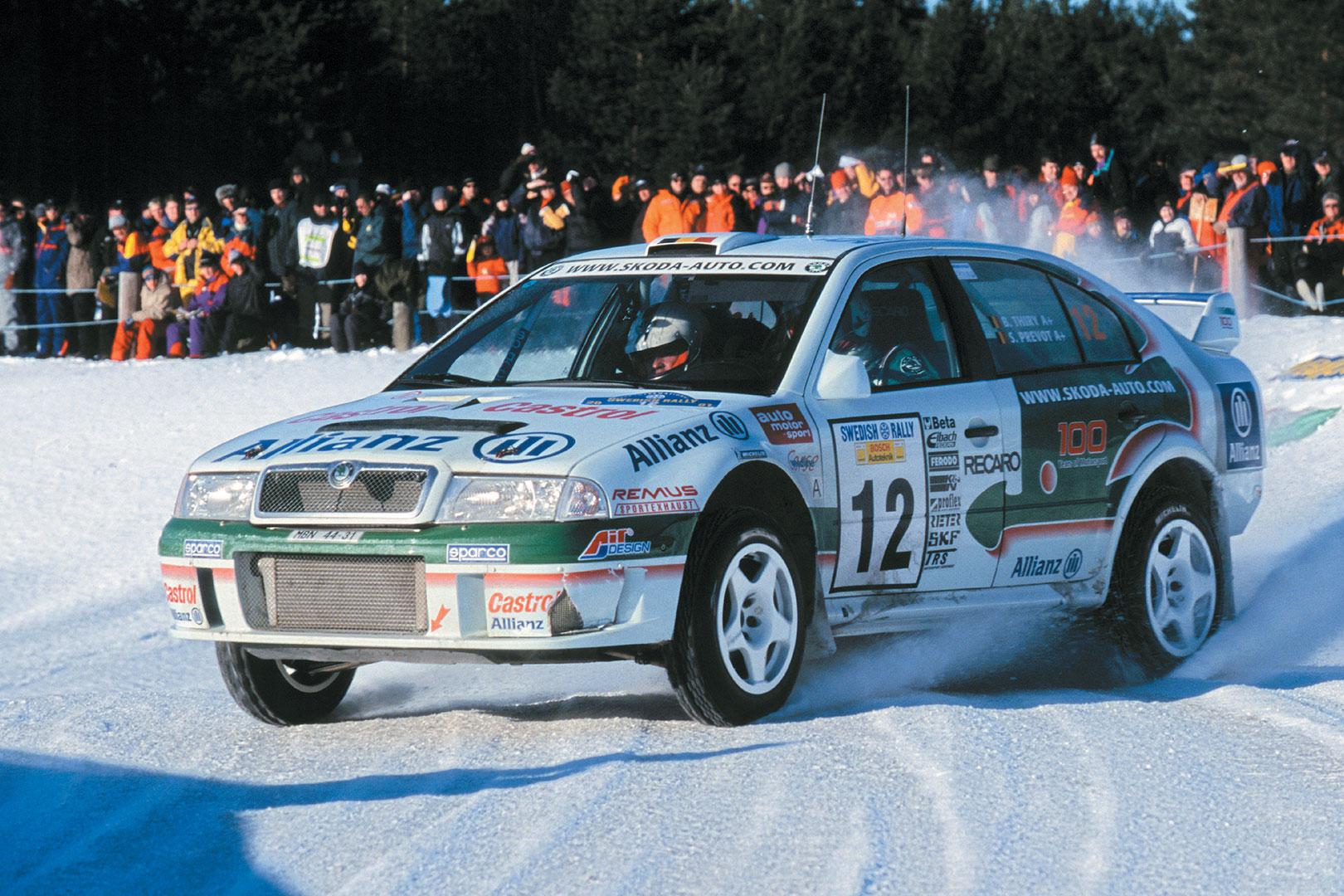 Bruno Thiry / Stéphane Prévot, ŠKODA OCTAVIA WRC, ŠKODA Motorsport. Rally Sweden 2001