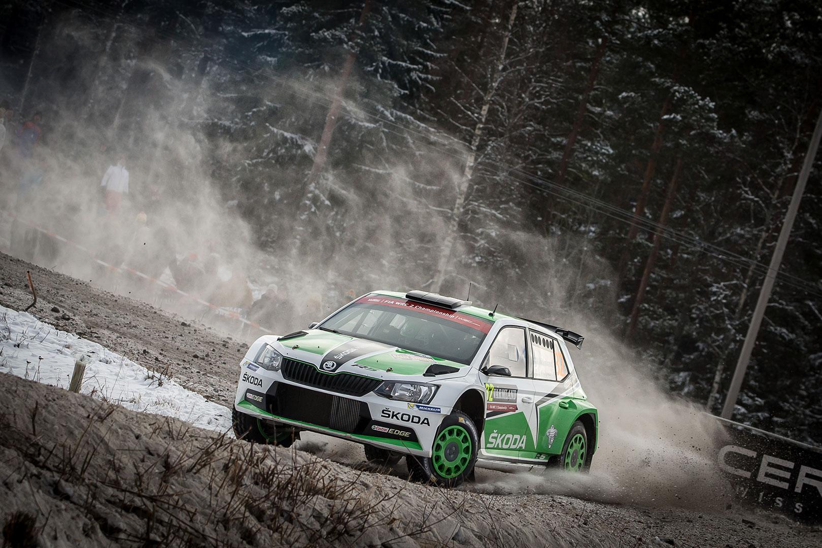 Pontus Tidemand / Jonas Andersson, ŠKODA FABIA R5, ŠKODA Motorsport. Rally Sweden 2016