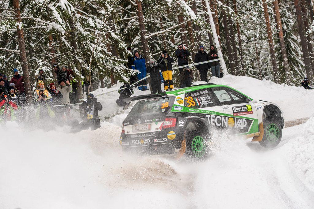 Umberto Scandola / Andrea Gaspari, ŠKODA FABIA R5, Motorsport Italia. Rally Sweden 2018