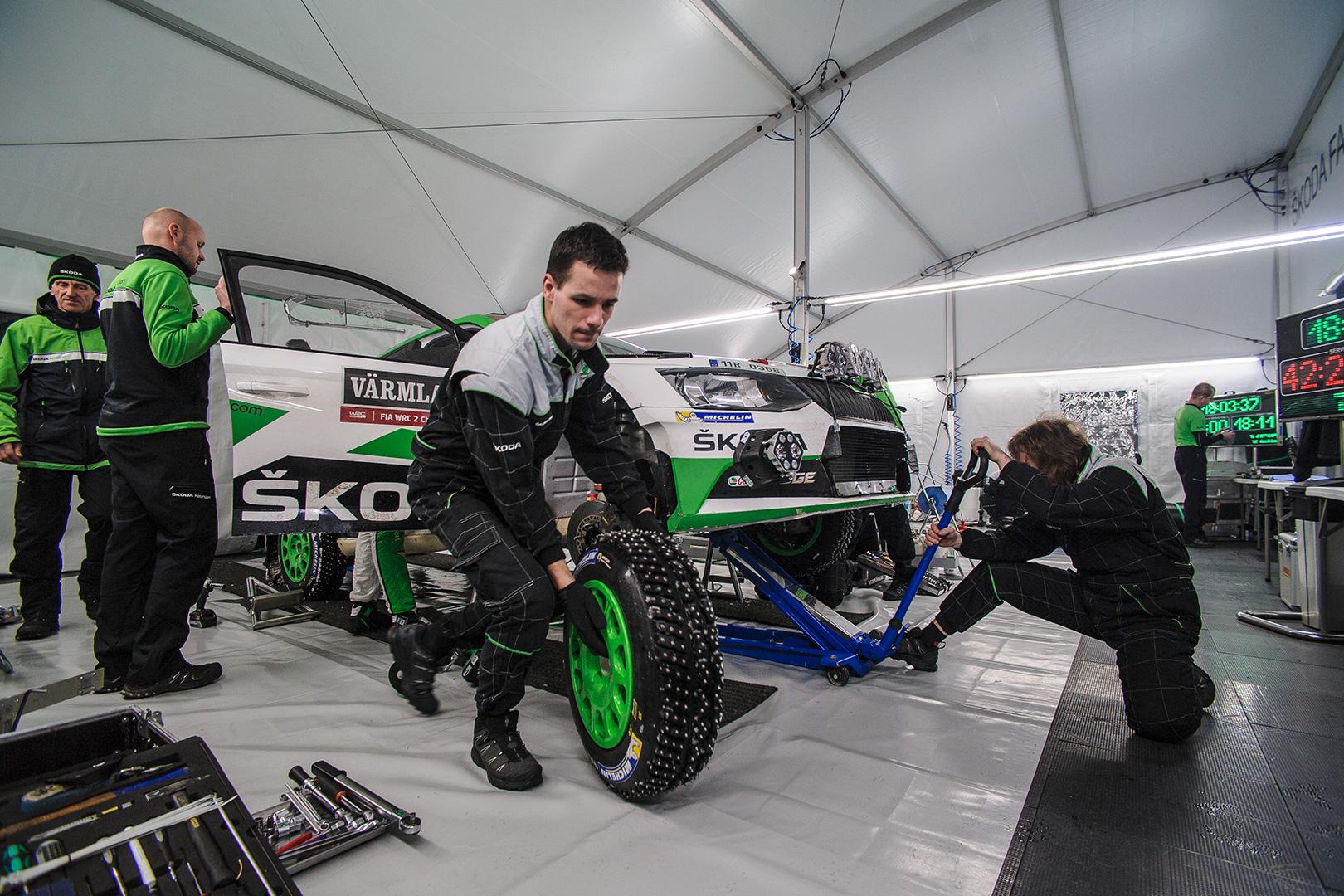 ŠKODA FABIA R5, ŠKODA Motorsport. Rally Sweden 2018
