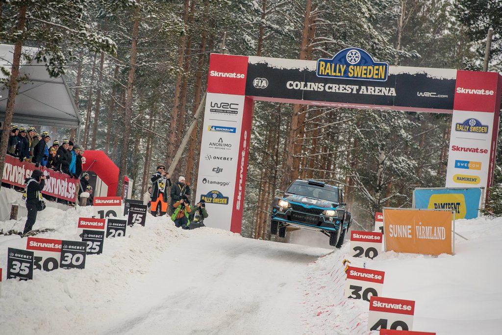 Łukasz Pieniążek / Przemysław Mazur, ŠKODA FABIA R5, Printsport Oy. Rally Sweden 2018