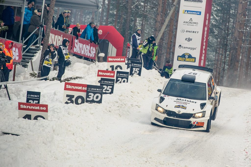 Fredrik Alsdal / Emil Nilsson, ŠKODA FABIA R5. Rally Sweden 2018